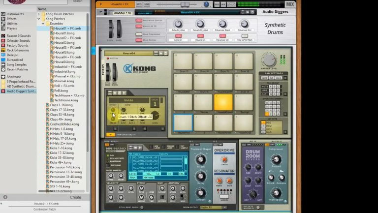 Synthetic Drums - samples Vermona DRM MK III