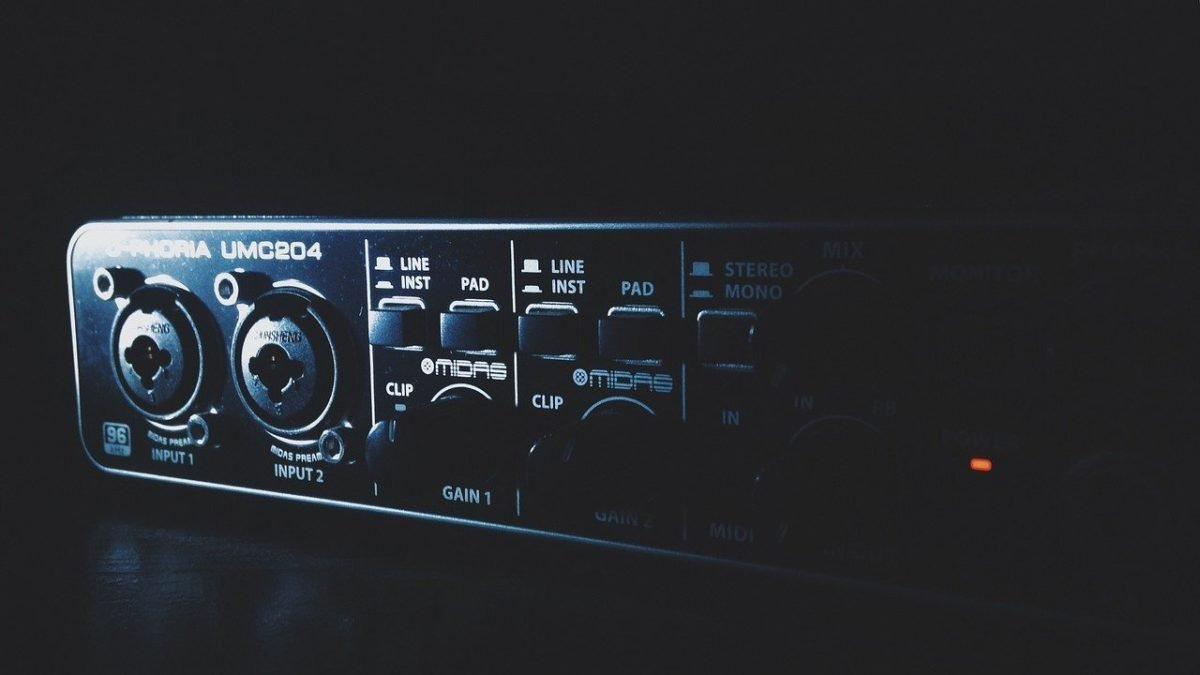 External USB audio interface for music production